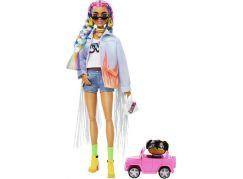 Mattel Barbie extra s duhovými copánky