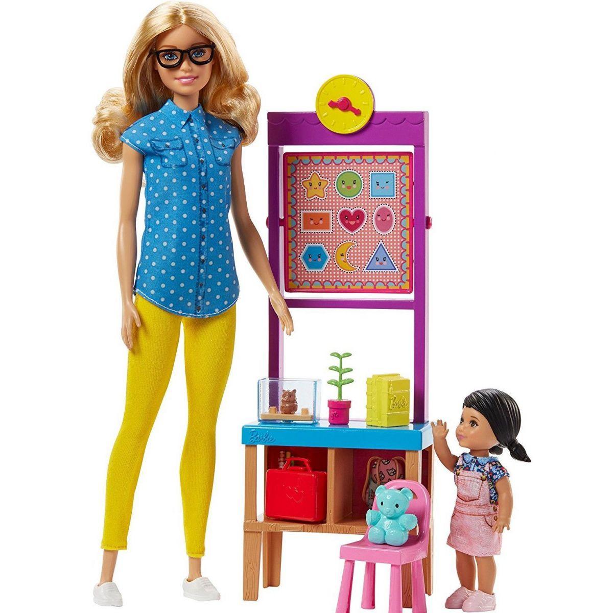 Mattel Barbie Herní set Povolání s panenkou Učitelka