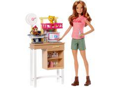 Mattel Barbie Herní set Povolání s panenkou Veterinářka