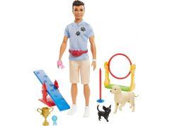 Mattel Barbie Ken a povolání herní set Ken - cvičitel pejsků