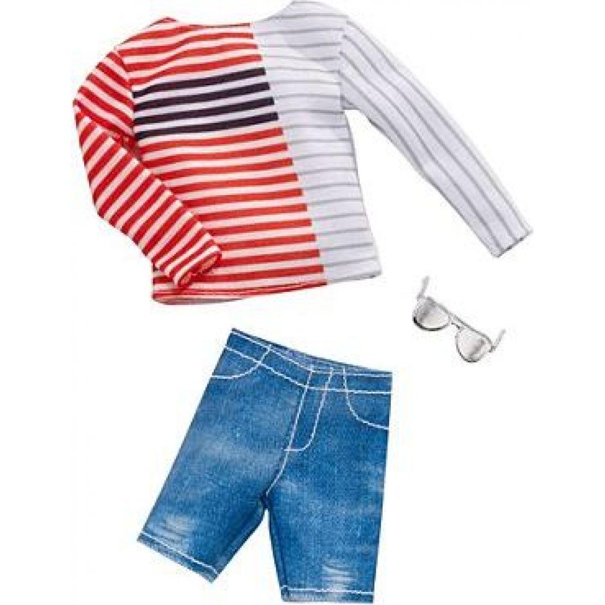 Mattel Barbie Kenovy oblečky pruhované triko a brýle 35