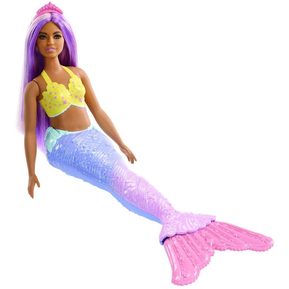 Mattel Barbie kouzelná mořská víla fialový ocas-růžová ploutev
