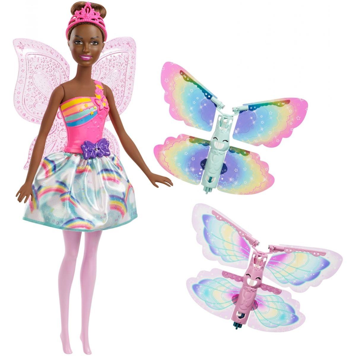 Mattel Barbie Létající víla s křídly Brunetka