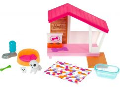 Mattel Barbie mini herní set s mazlíčkem bouda pro pejska GRG78