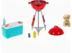 Mattel Barbie mini herní set s mazlíčkem grilování GRG76