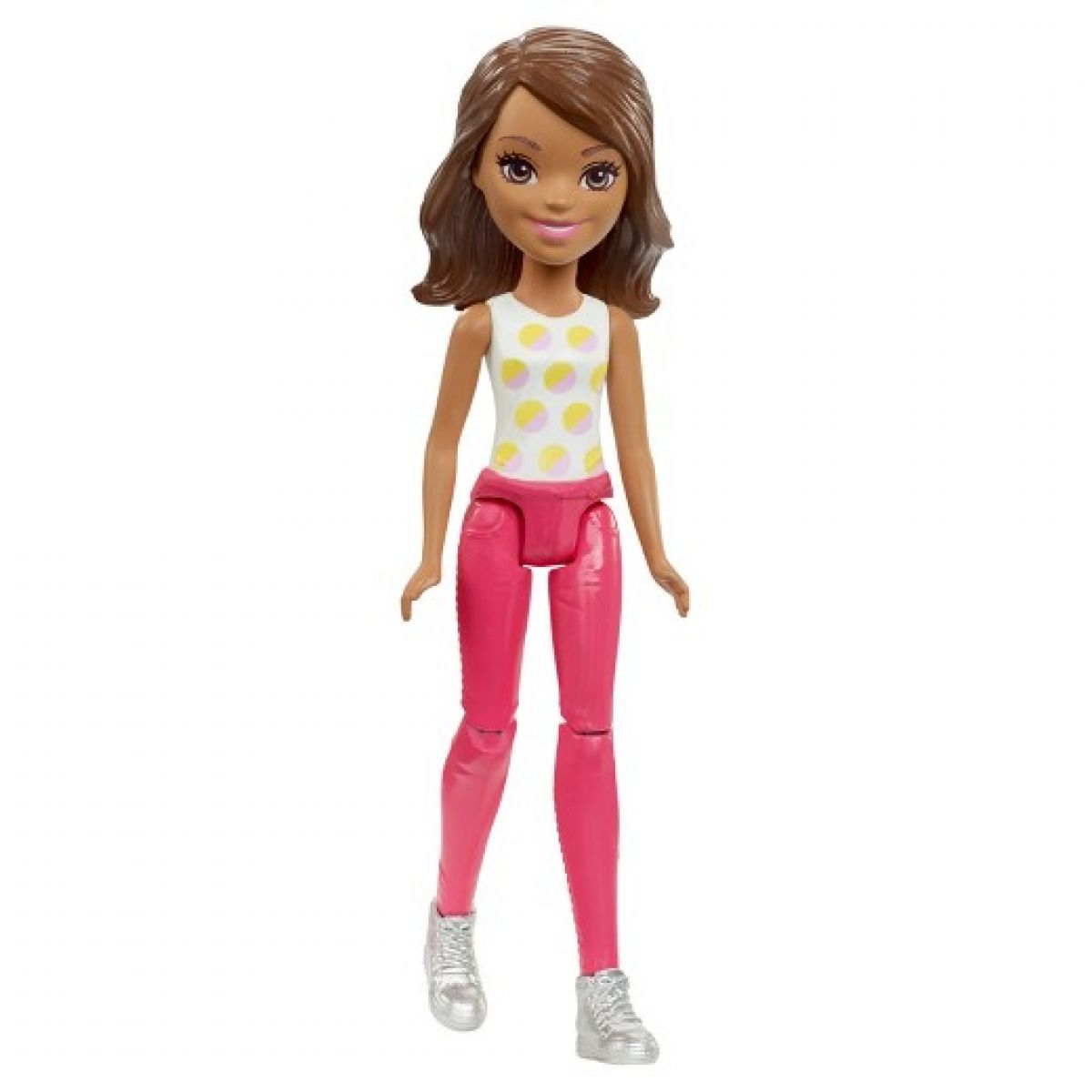 Mattel Barbie Mini panenka červené kalhoty FHV56
