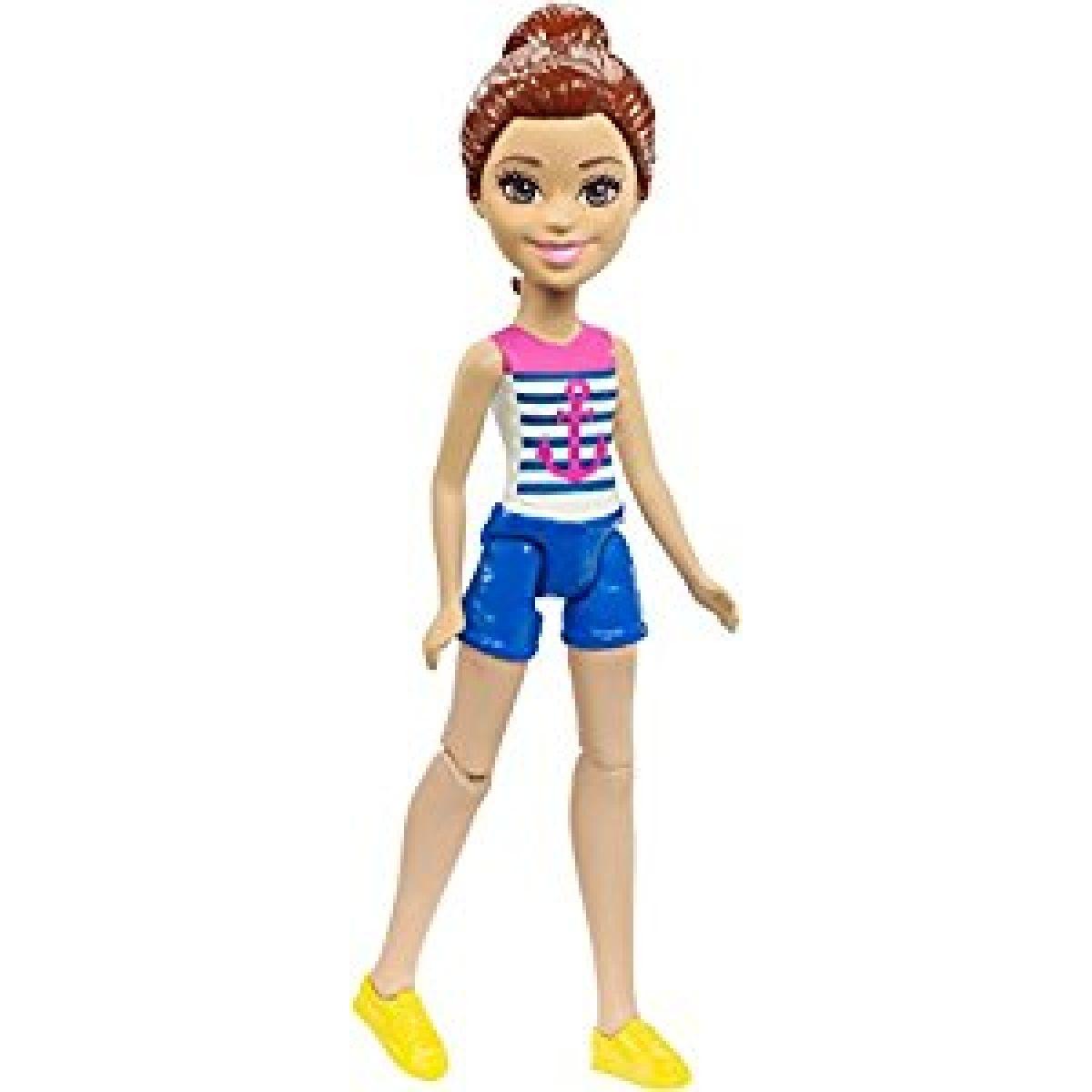 Mattel Barbie Mini panenka modré kraťasy FHV58