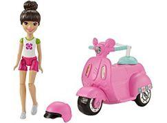 Mattel Barbie Mini vozítko panenka Skútr FHV80