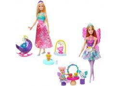 Mattel Barbie pohádkový herní set s panenkou