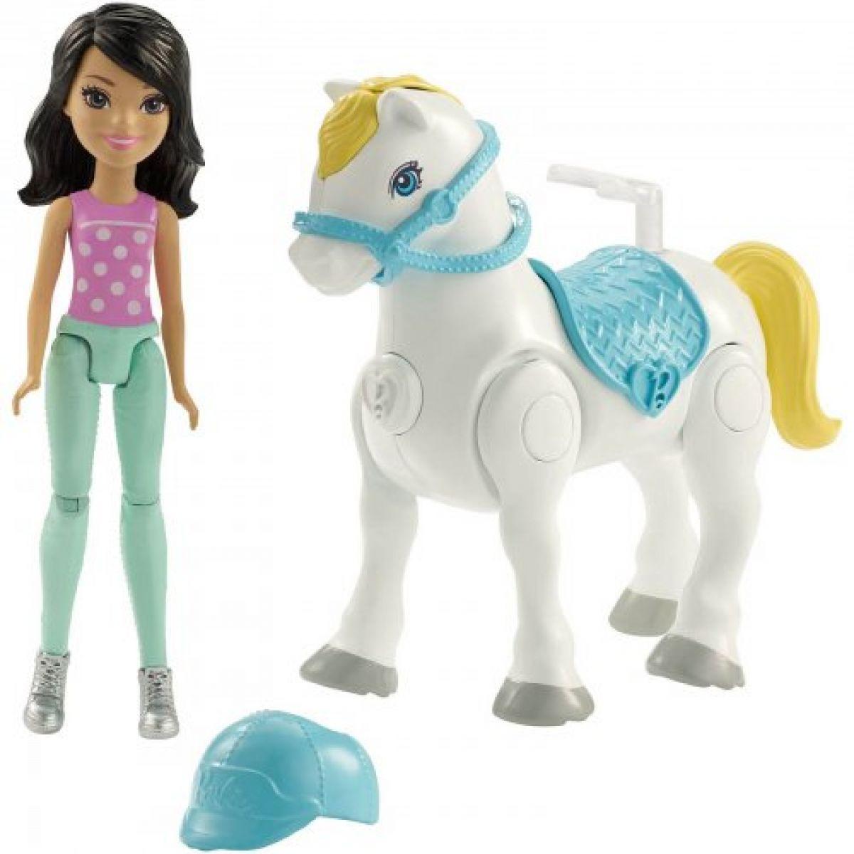 Mattel Barbie Pony a panenka Bílý FHV64