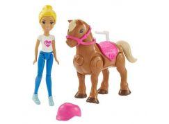 Mattel Barbie Pony a panenka Světle hnědý FHV63