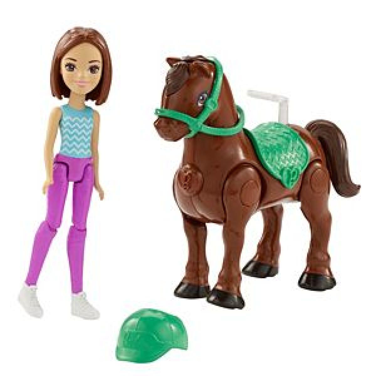 Mattel Barbie Pony a panenka Tmavě hnědý FHV62
