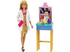 Mattel Barbie povolání herní set dětská doktorka blondýnka