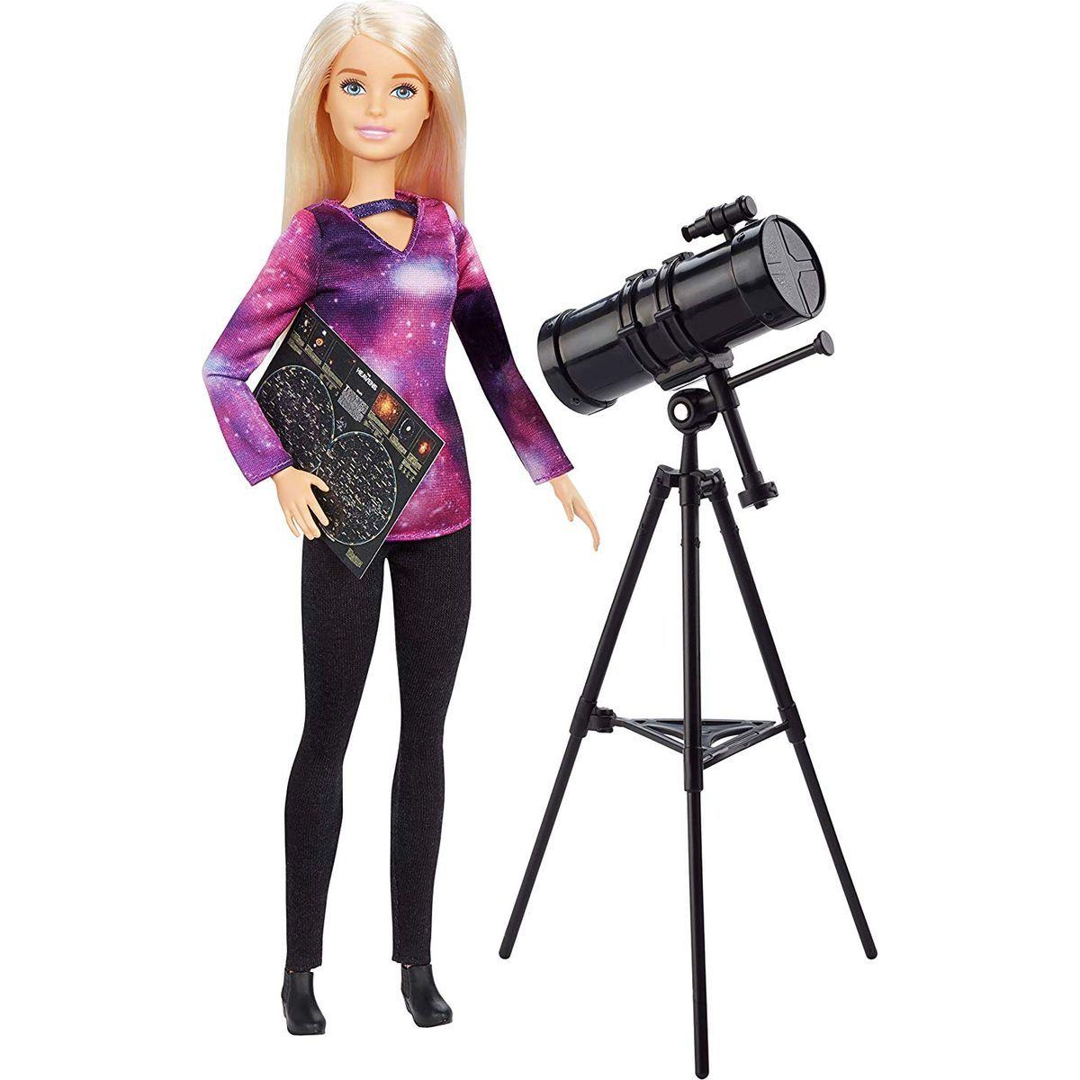 Mattel Barbie povolání National Geographic panenka astrofyzička a dalekohled