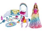 Mattel Barbie princezna a duhový jednorožec herní set  - Poškozený obal