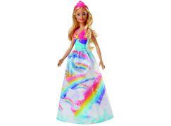 Mattel Barbie Princezna blond vlasy duhová