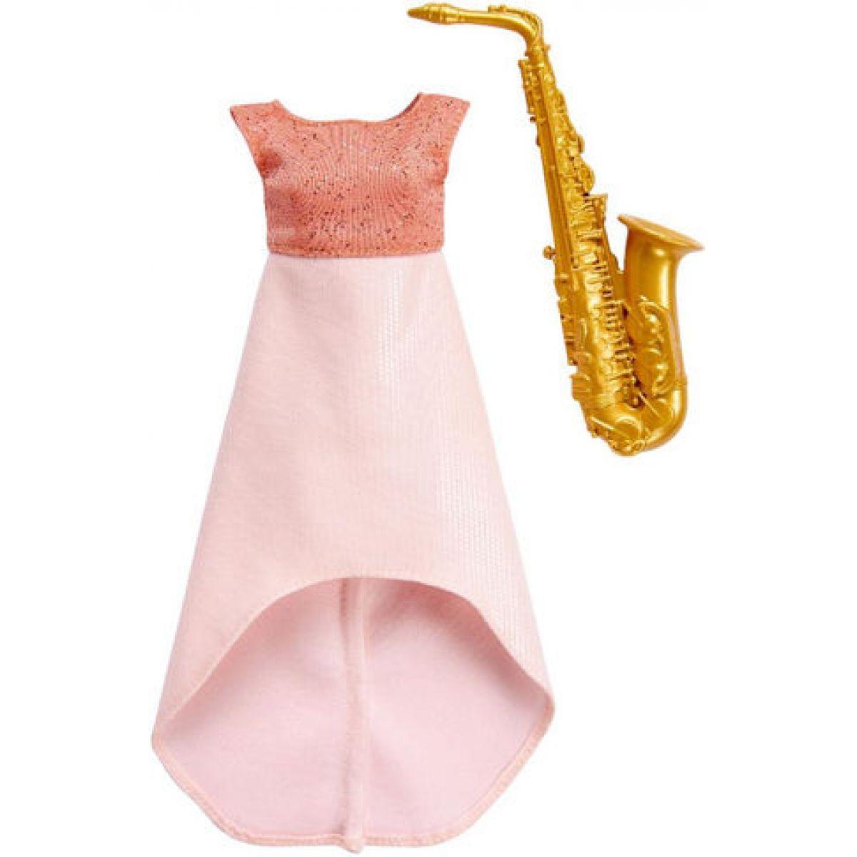 Mattel Barbie profesní oblečení s doplňky FKT15 - Saxofon