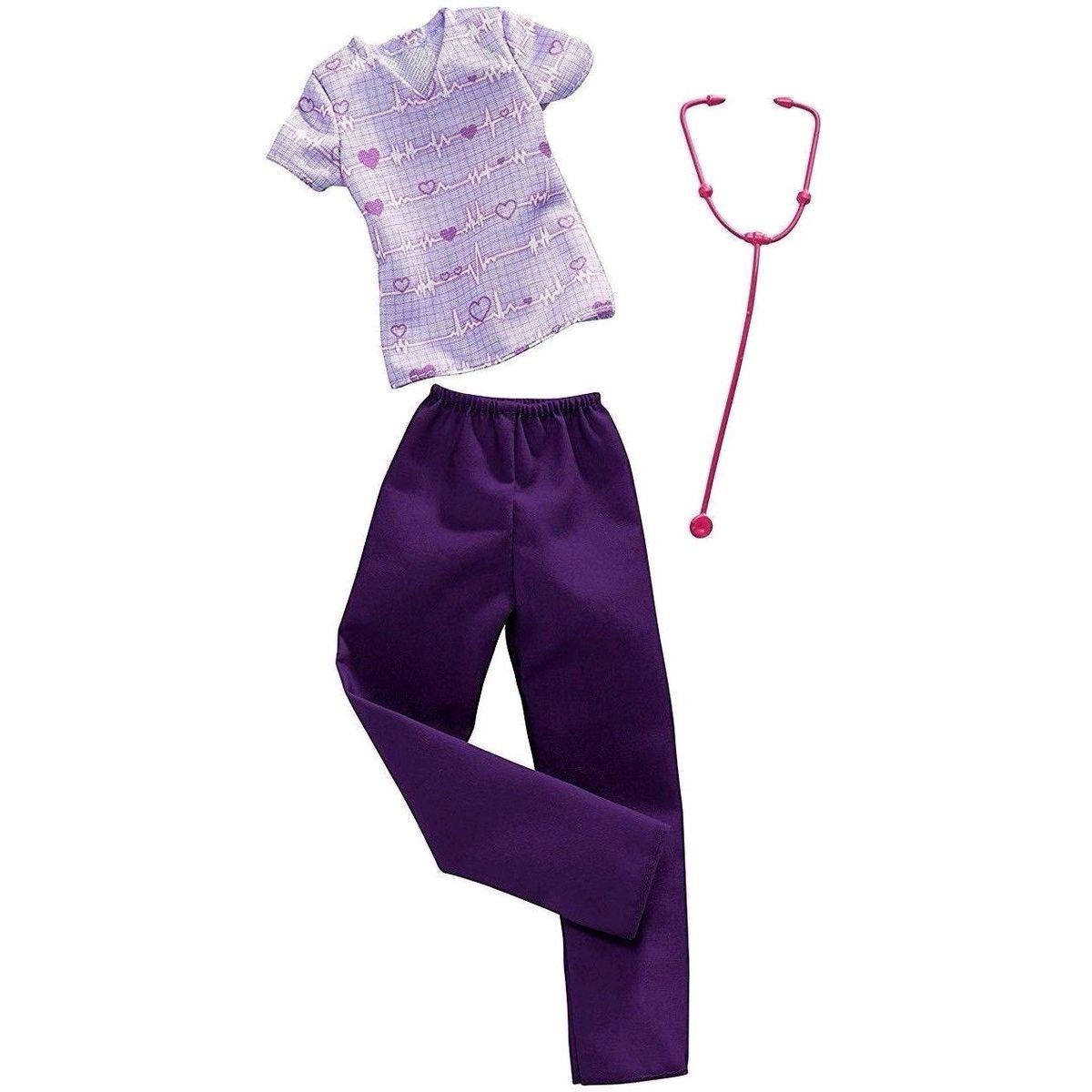 Mattel Barbie profesní oblečení s doplňky FXH96 Doktorka