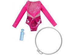 Mattel Barbie profesní oblečení s doplňky FXH99 Gymnastka