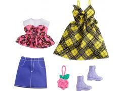 Mattel Barbie Sada oblečení - šaty s hvězdným potiskem GRC83