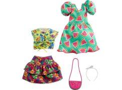 Mattel Barbie Sada oblečení - šaty s hvězdným potiskem GRC85