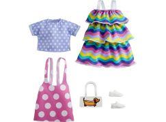 Mattel Barbie Sada oblečení - šaty s hvězdným potiskem GRC87