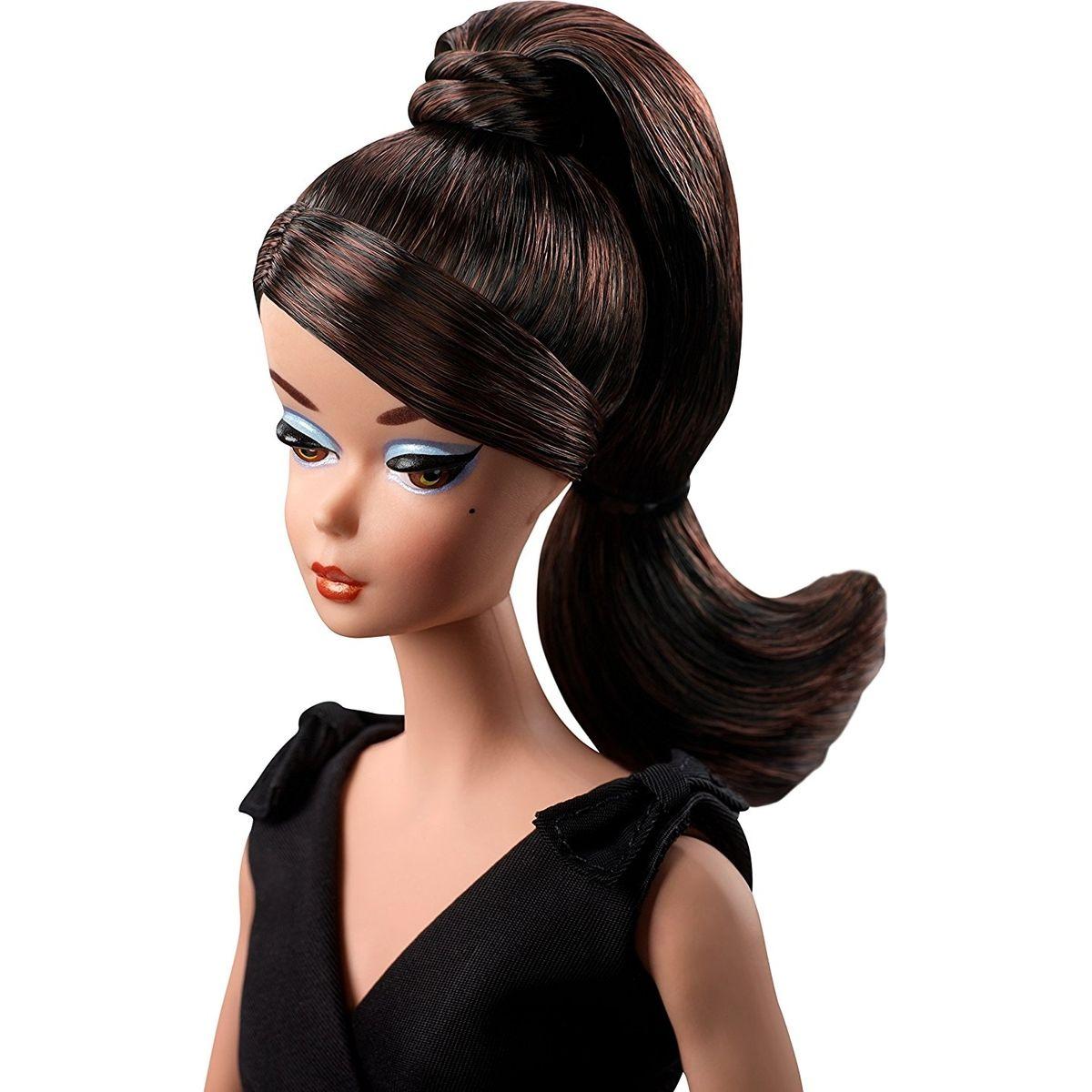 Mattel Barbie sběratelská Silkstone černé šaty #3