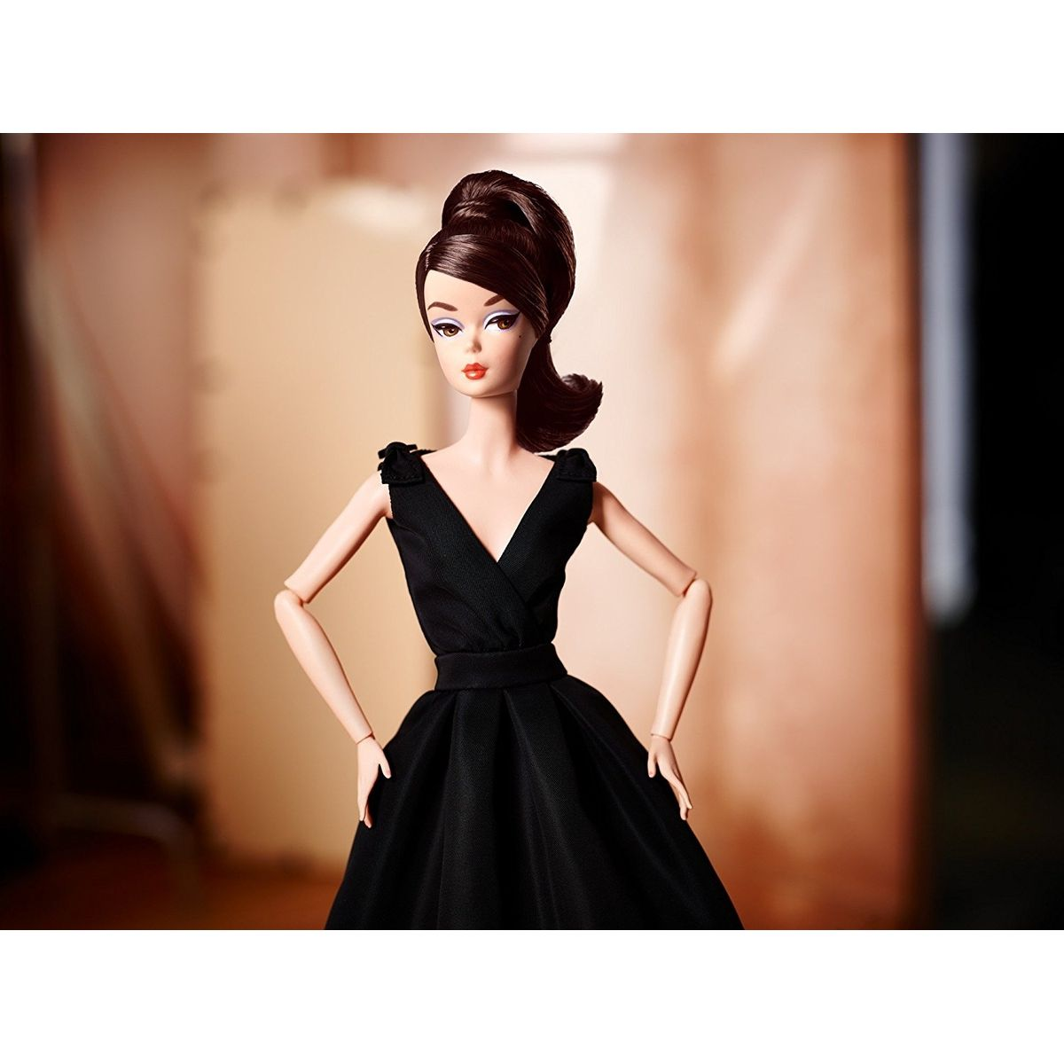 Mattel Barbie sběratelská Silkstone černé šaty #5