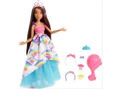 Mattel Barbie Vysoká dlouhovlasá brunetka