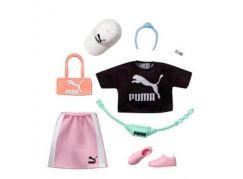 Mattel Barbie značkové oblečky a doplňky černé triko PUMA