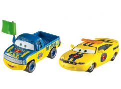 Mattel Cars 3 auta 2 ks Dexter Hoover with Green Flag a Charlie Checker