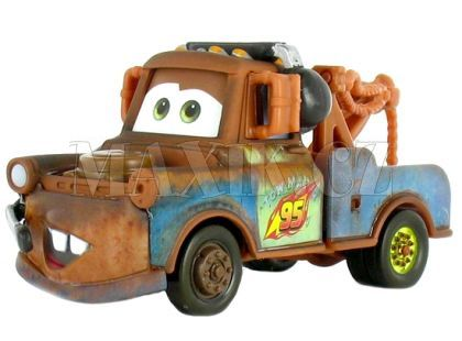 Mattel Cars Auta - Race Team Mater with headset