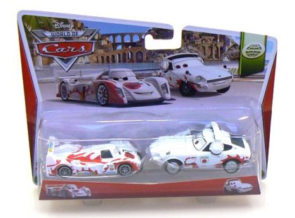 Mattel Cars Autíčka 2ks - Shu Todoroki a Mach Matsuo