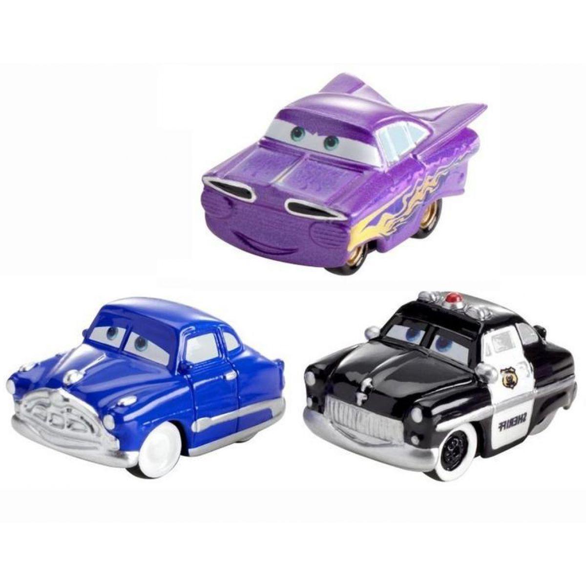 Mattel Cars Micro Drifters 3ks - Doc Hudson, Sheriff, Ramone