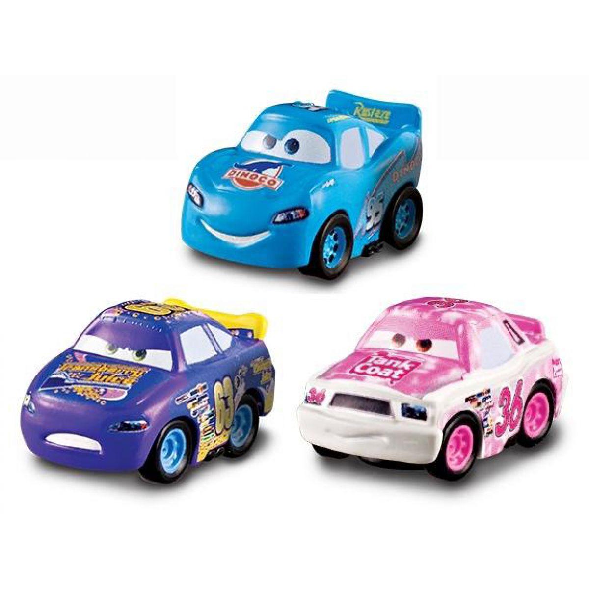 Mattel Cars Micro Drifters 3ks - Tank Coat, Bling McQueen, Transberry Juice
