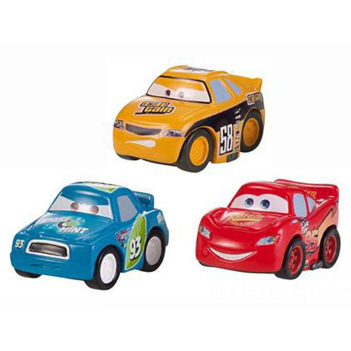 Mattel Cars Micro Drifters 3ks - W7162 Octane Gain, McQueen, Spare o Mint