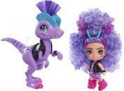 Mattel Cave Club panenka dino se zvířátkem Rebel Tot a Dino