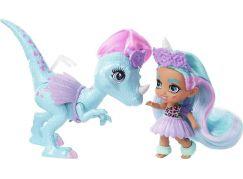 Mattel Cave Club panenka dino se zvířátkem Unicorn Tot a Dino