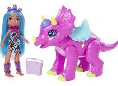 Mattel Cave Club panenka party teila s dino zvířátkem