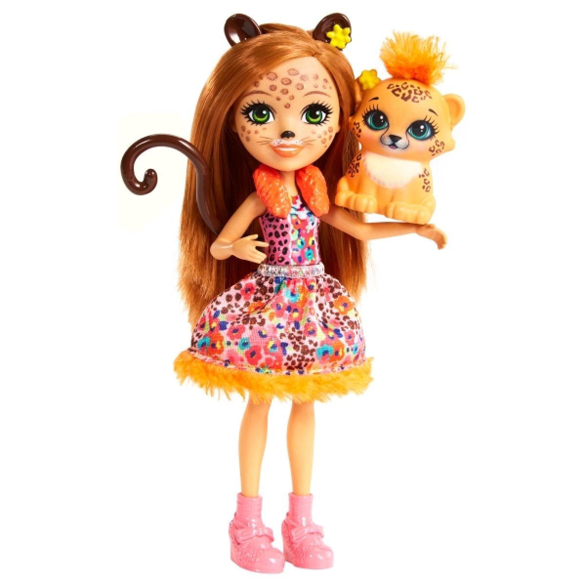 Mattel Enchantimals panenka a zvířátko Cherish Cheetah a Quick-Quick