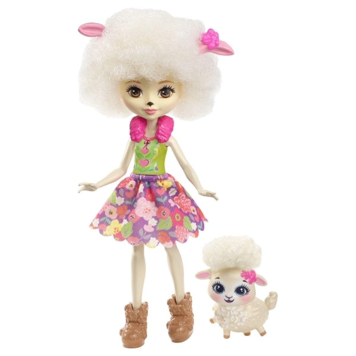Mattel Enchantimals panenka a zvířátko Lorna Lamb a Flag
