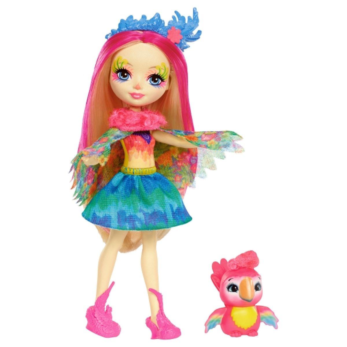 Mattel Enchantimals panenka a zvířátko Peeki Parrot a Shenny
