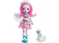 Mattel Enchantimals panenka a zvířátko Saffi Swan a Poise