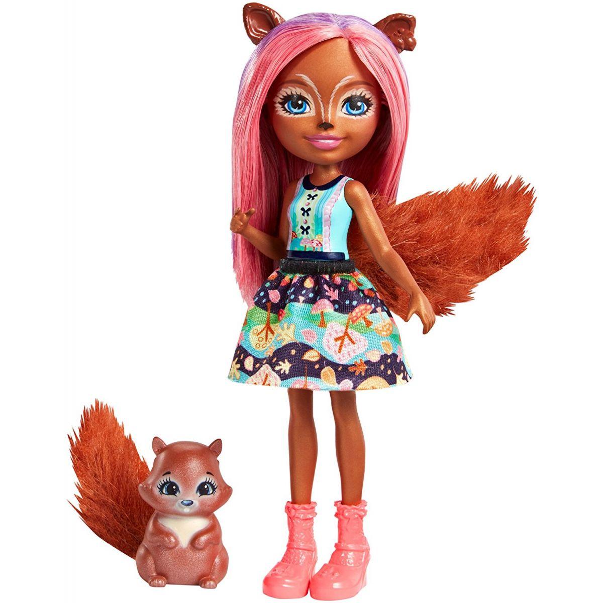 Mattel Enchantimals panenka a zvířátko Sancha Squirrel a Stumper