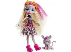 Mattel Enchantimals panenka a zvířátko Zadie Zebra a Ref