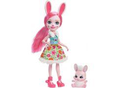 Mattel Enchantimals panenka se zvířátkem Bree Bunny