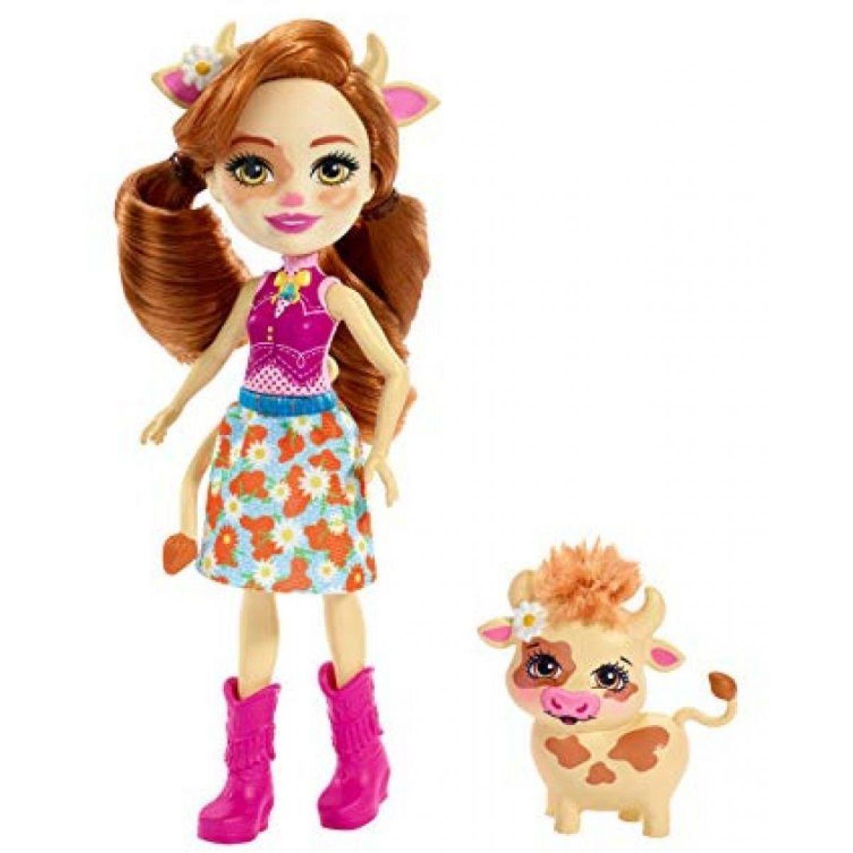 Mattel Enchantimals panenka se zvířátkem Cailey Cow a Curdle