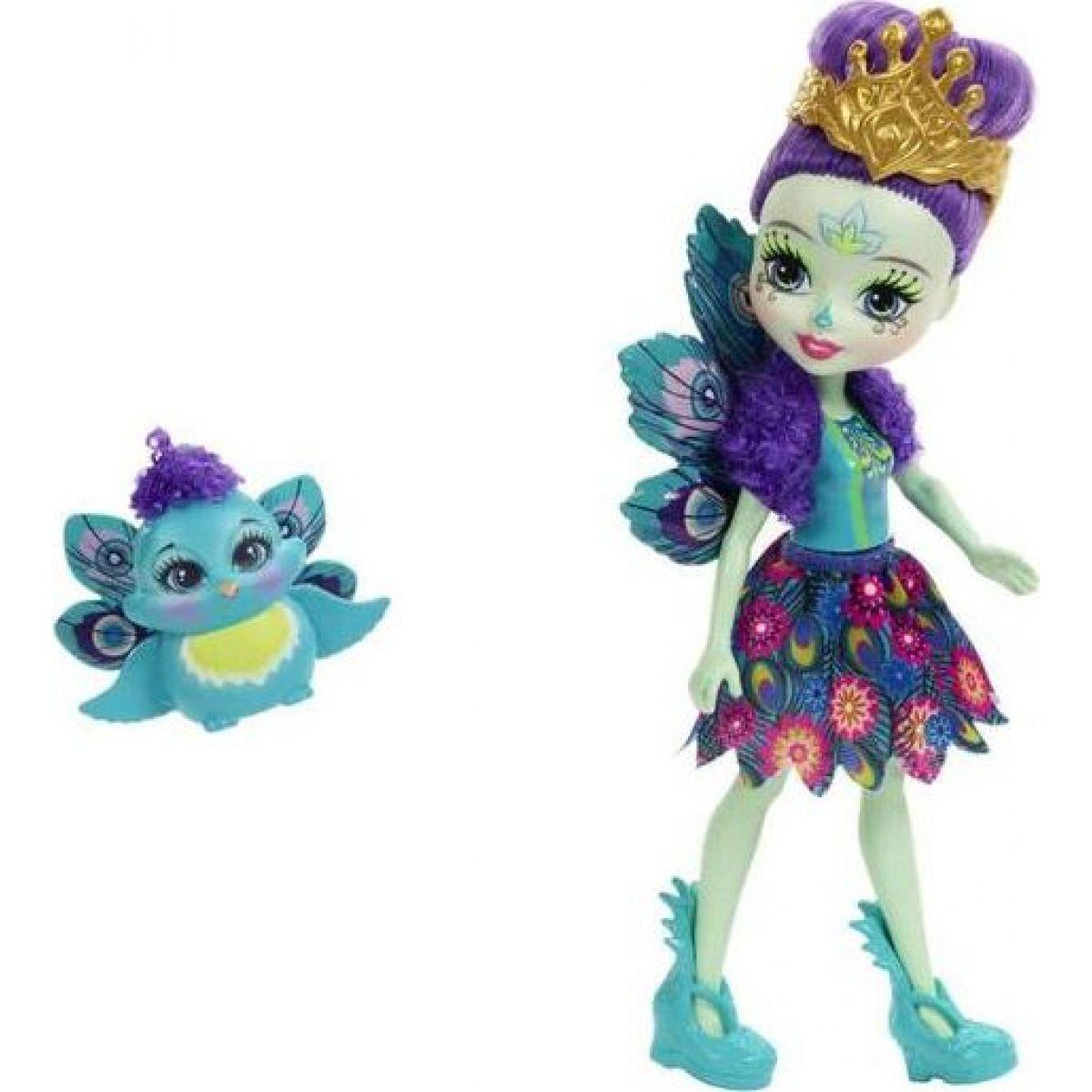 Mattel Enchantimals panenka se zvířátkem Patter Peacock