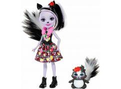 Mattel Enchantimals panenka se zvířátkem Sage Skunk a Caper