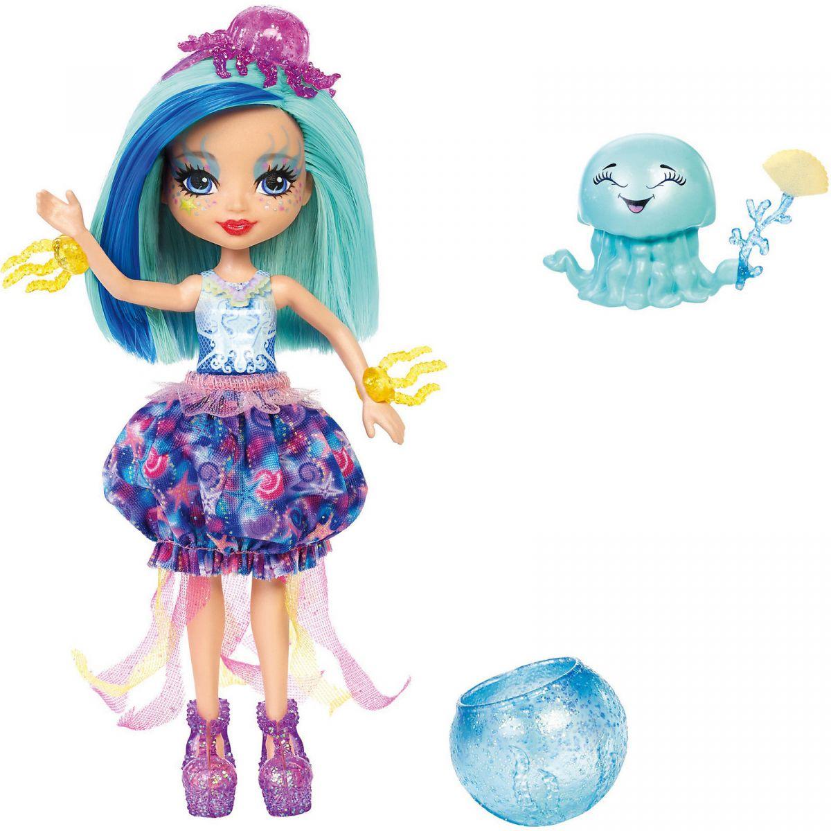 Mattel Enchantimals Vodní svět Panenka a zvířátko Jessa Jellyfish a Marisa